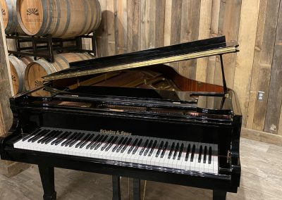 Schafer & Sons Piano in Event Room at Sierra Vista Winery