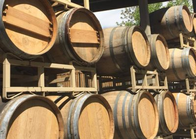 Sierra Vista Tasting Room Barrels of Wine