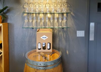 Sierra Vista Vineyards and Winery - Glasses and Wine Barrel